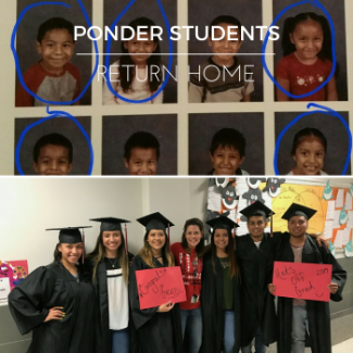 Ponder Students in kindergarten and 12th Grade
