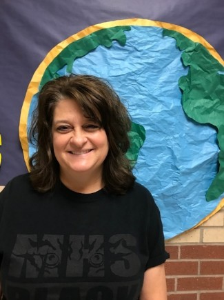 Kathy Barker is the Teacher of the Month for May.