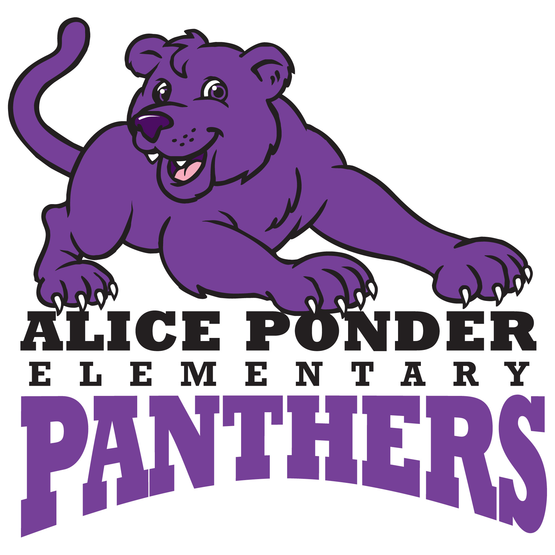 Alice Ponder Elementary Panthers Logo
